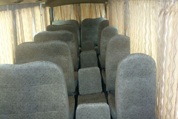 Seats & Curtains for Mitsubishi Rosa Bus